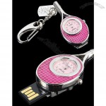 Tennis Racket Keychain USB Flash Drive Watch