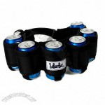 The Beer Belt Six Pack Can Holder - Black