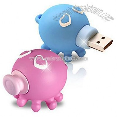 Theme Series Kissing Octopus Couple Flash Drive