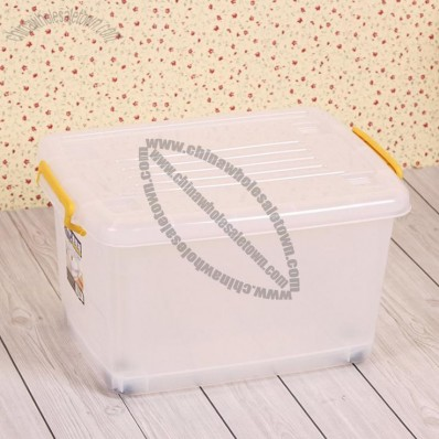 Thick Transparent Debris Sorting Box with Wheel