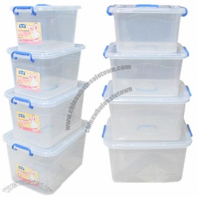 Thickened Pulley Covered Plastic Storage Box