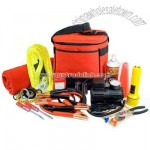 Thirty piece winter highway emergency kit