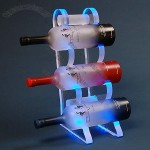 Three Bottle LED Acrylic Wine Bottle Glorifier Display