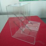 Three Cases Acrylic Candy Display with Safety and Stable Structure
