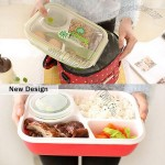 Three Grid Lunch Box With Soup Bowl