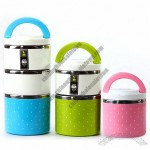 Three Layer Portable Stainless Steel Insulated Lunch Box