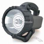 Three-in-one Rechargeable Spotlight with LED and Blinking Light