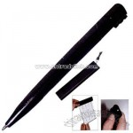 Three in one pen offers  retracting pullout banner screen,flashlight