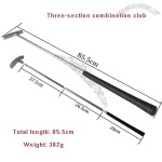 Three-section combination Golf Club - Aluminum alloy putter club