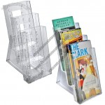 Three-tier Tri-fold Size Counter Modular Brochure Holder
