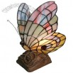 Tiffany Butterfly Accent Lamp Green/Yellow/Pink
