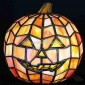 Tiffany Halloween Pumpkin Orange Jack O Lantern