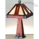 Tiffany Sherwood Hammered Copper Accent Lamp