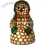 Tiffany Snow Woman Accent Lamp