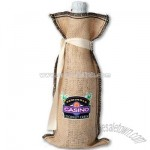 Tiki Burlap Wine Bag with Tie