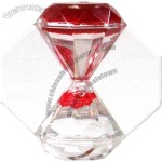 Times Up - Diamond shaped sand timer, The sand flows up