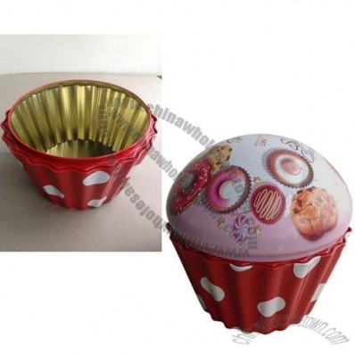 Tin Box for cake with 4C Printing
