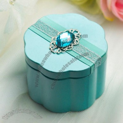 Tin Candy Box with Decorative Stones