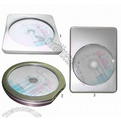 Tin Metal DVD/CD Box Holder CD Case