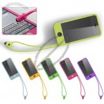 Tin Tip Tie Silicone Case with Stylus Pen Lanyard for iPhone