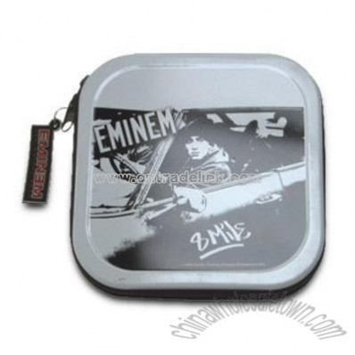 Tin with Zipper 20 Pockets CD Case
