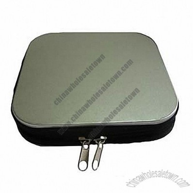 Tinplate DVD/CD Case with Zipper Closed