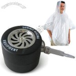 Tire Shape Disposable Raincoat/Poncho Keychain