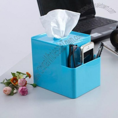 Tissue Box and Desk Organizer Combo