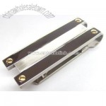 Titanium Jewelry/Money Clip with Gold Screw