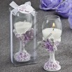 Toasting Flute Butterfly Design Candle Favors