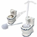 Toilet Brush with Toilet Shape Caddy