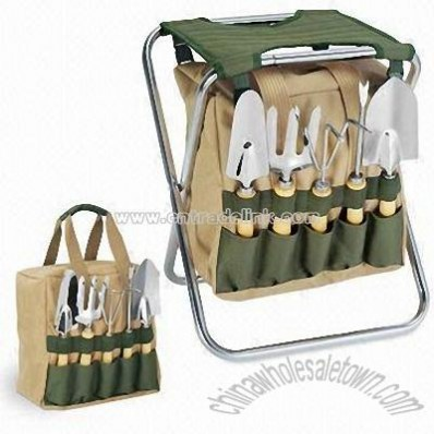 Tool Bag with Polyester Folding Chair and Steel Frame