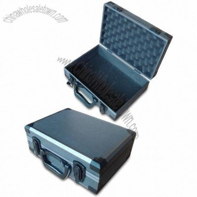 Toolbox with Gray Stripe and ABS Surface 33x23x12cm