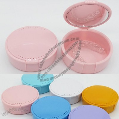Tooth Braces Box, Denture Case with Mirror