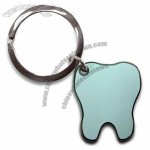 Tooth Shaped Metal Keychain with Synthetic Enamel