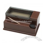 Toothpick dispenser brown plastic