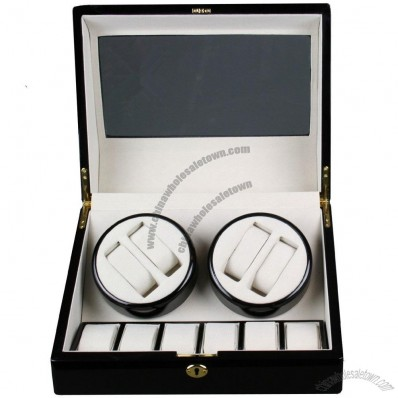 Top Quality Automatic Quad Watch Winder 4+6 Storage Box Case