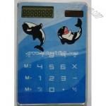 Touch screen Solar powered 8 digits transparent calculator