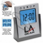 Touch sensitive multi functional alarm clock
