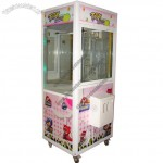 Toughened Glass Toy Crane Game Machine With Small Claw For Entertainment