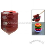 Toy Colorful Wood Spinning Peg-top Top 210g