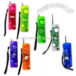 Translucent AM / FM Radio with hand strap and belt clip