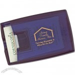 Translucent Blue Business Card Holder