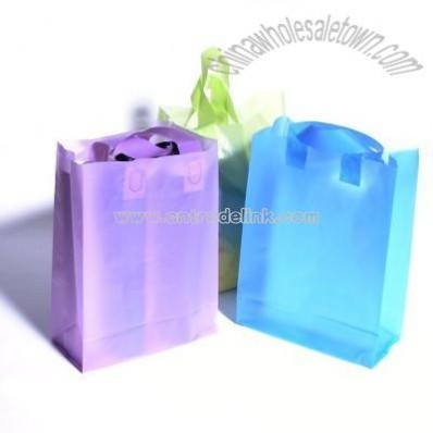 Translucent Frosted Shopping Bag