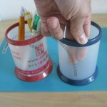 Translucent Plastic Pen Holder