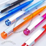 Translucent Twist Ballpoint Pen with Metal Clip