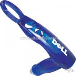 Translucent blue folding gel pen with lanyard