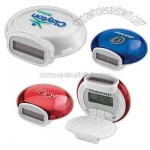 Translucent bubble shaped solar pedometer