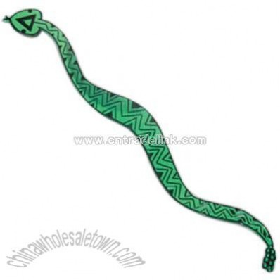 Translucent emerald green snake shape cocktail stirrer