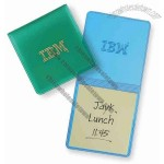 Translucent square memo book with stik-on pad and double thick cover